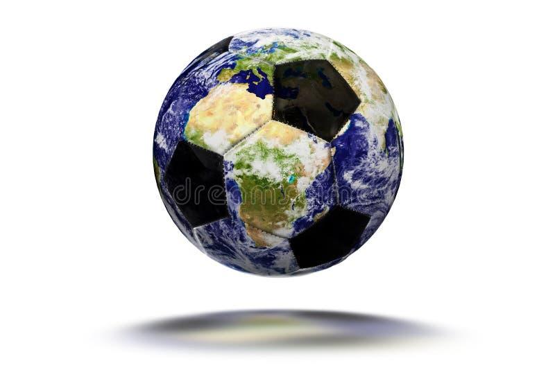Jordfotbollbollen - jorda en kontakt textur av NASA gov. royaltyfria foton