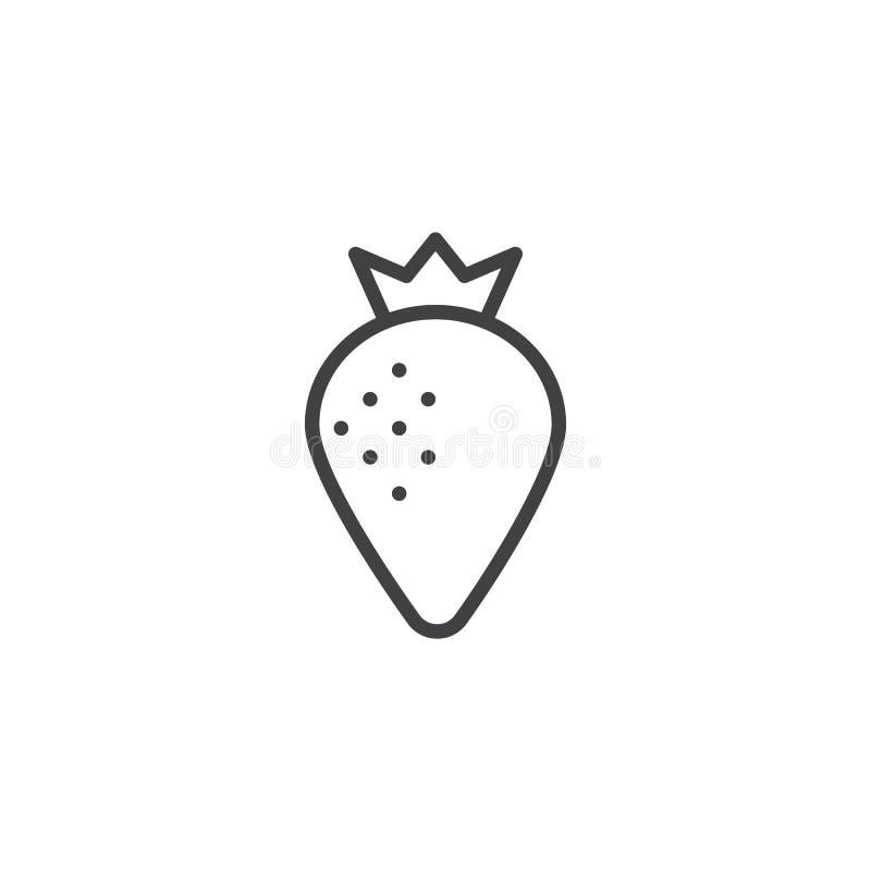 Jordgubbeöversiktssymbol stock illustrationer