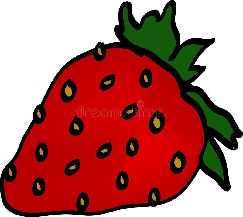 jordgubbe vektor illustrationer