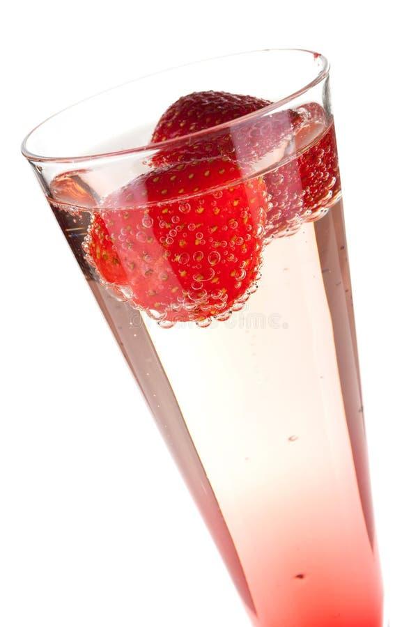 jordgubbe för champagnejulcoctail royaltyfria foton