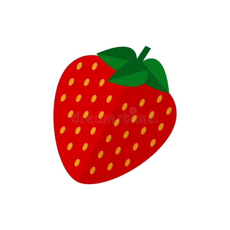 Jordgubbefruktsymbol stock illustrationer