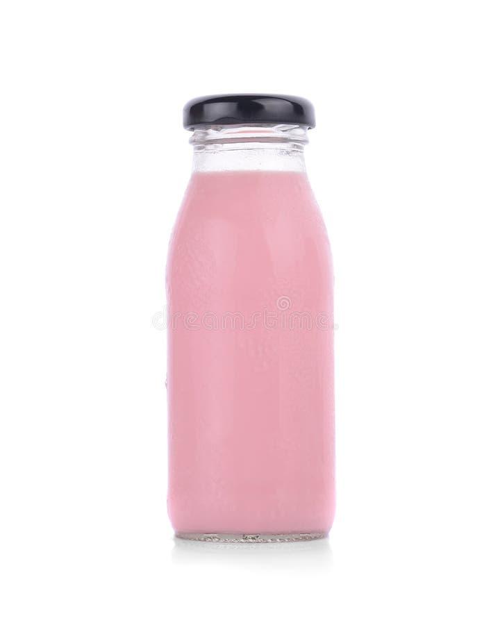 Jordgubben mjölkar jordgubben mjölkar jordgubben mjölkar jordgubben mjölkar arkivfoton