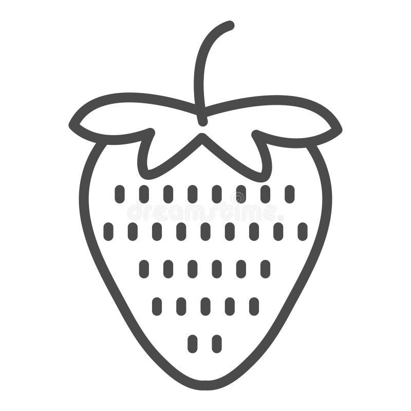 Jordgubbesymbolslinje konstvektorsymbol för apps och websites stock illustrationer