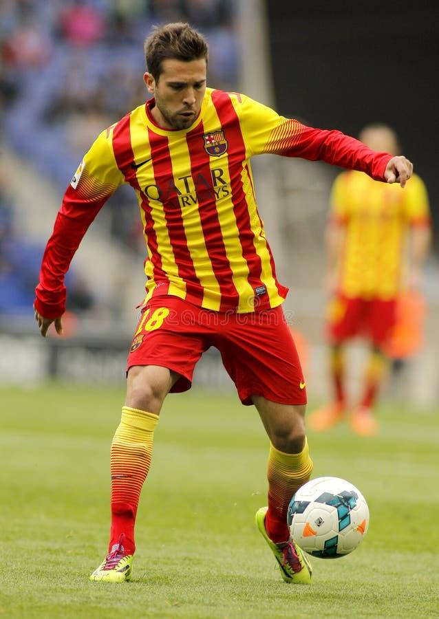 Download Jordi Alba FC Barcelona редакционное стоковое изображение. изображение насчитывающей чемпион - 41657219
