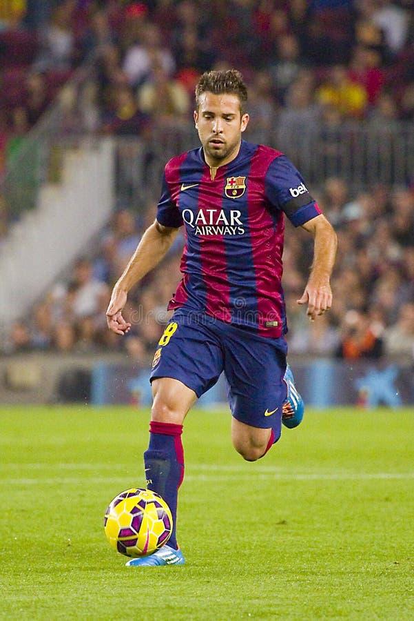 Jordi Alba van FC Barcelona stock foto