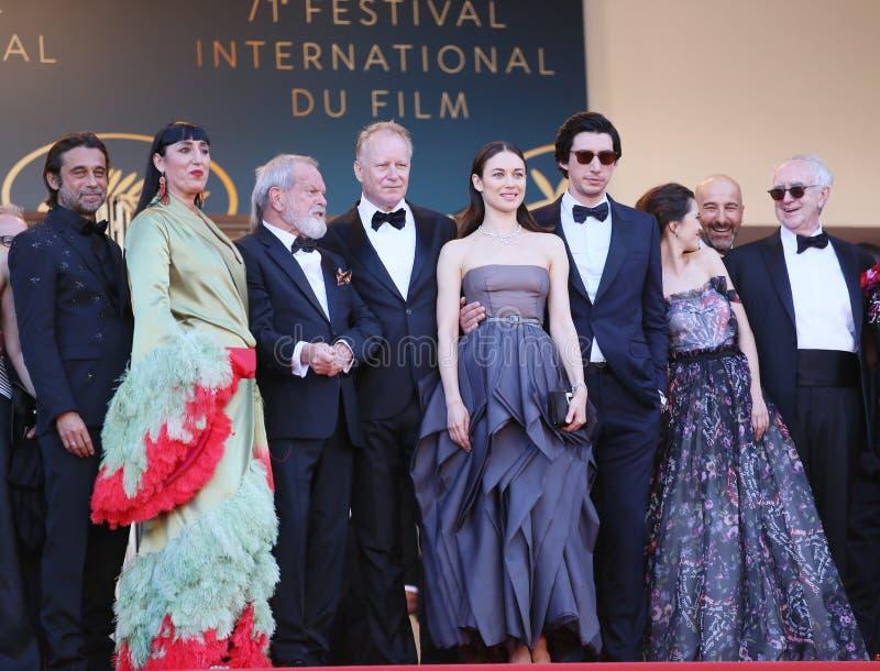 Jordi Molla, Rossy de Palma, Terry Gilliam, Stellan Skarsgard, O images stock