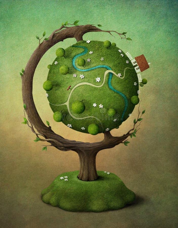 jordjordklot stock illustrationer