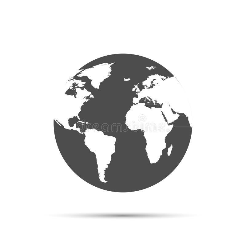 Jordjordklot vektor illustrationer
