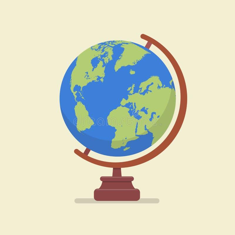 Jordjordklotmodell vektor illustrationer