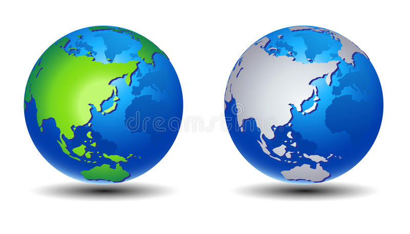 jordjordklotplanet vektor illustrationer