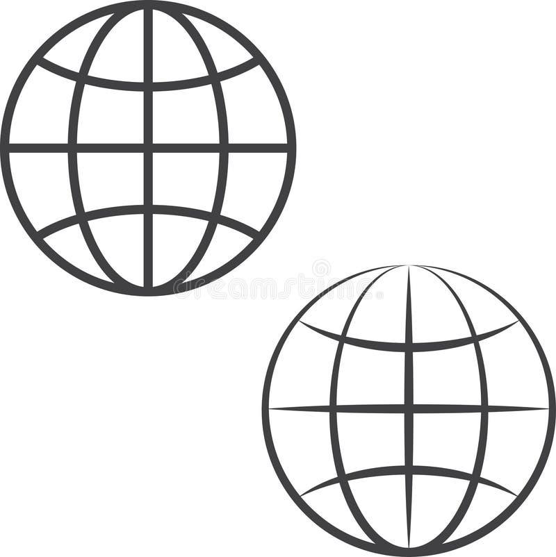 Jordjordklotsymboler vektor illustrationer
