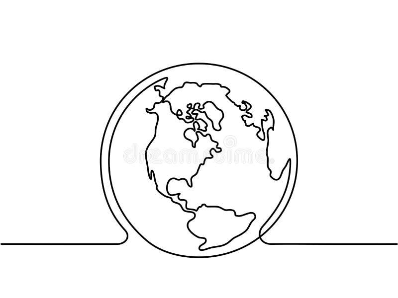 Jordklot av jorden royaltyfri illustrationer