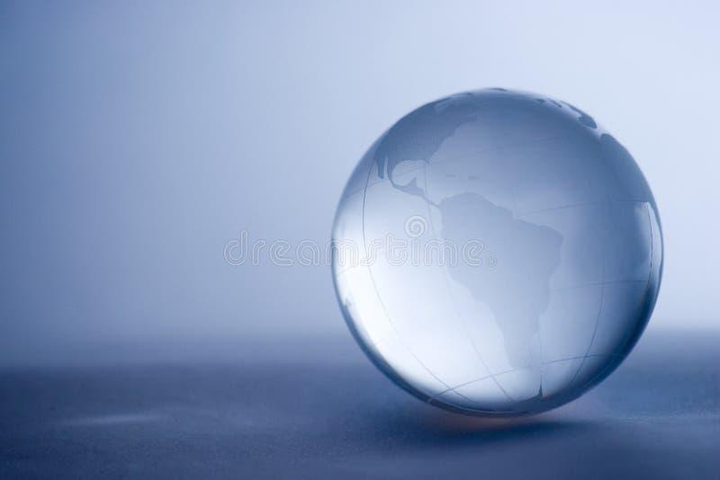 jordklot för crystal exponeringsglas arkivfoton