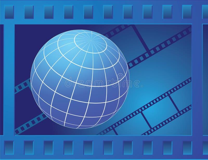 jordklot för filmram stock illustrationer