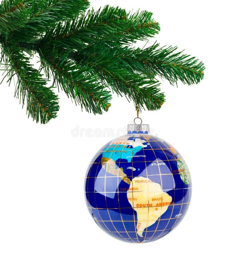 Download Jordklot- och jultree arkivfoto. Bild av lycka, infall - 27280162