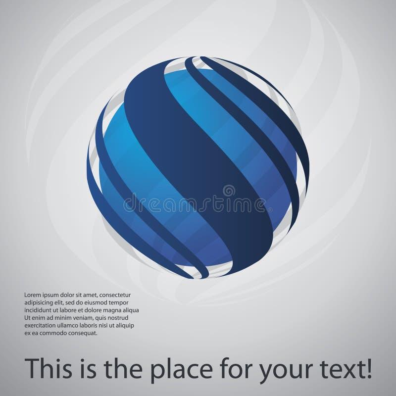 Jordklotdesignvektor vektor illustrationer