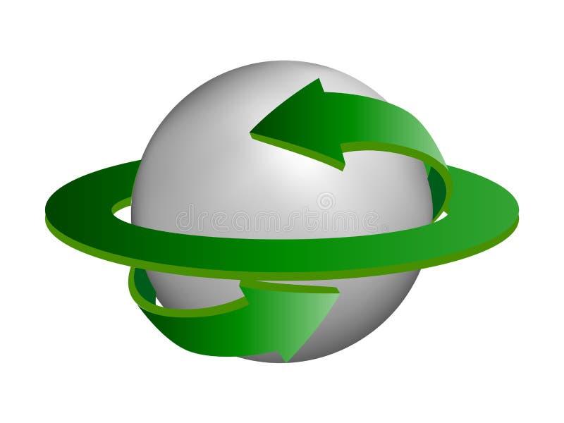 jordklotet återanvänder vektor illustrationer