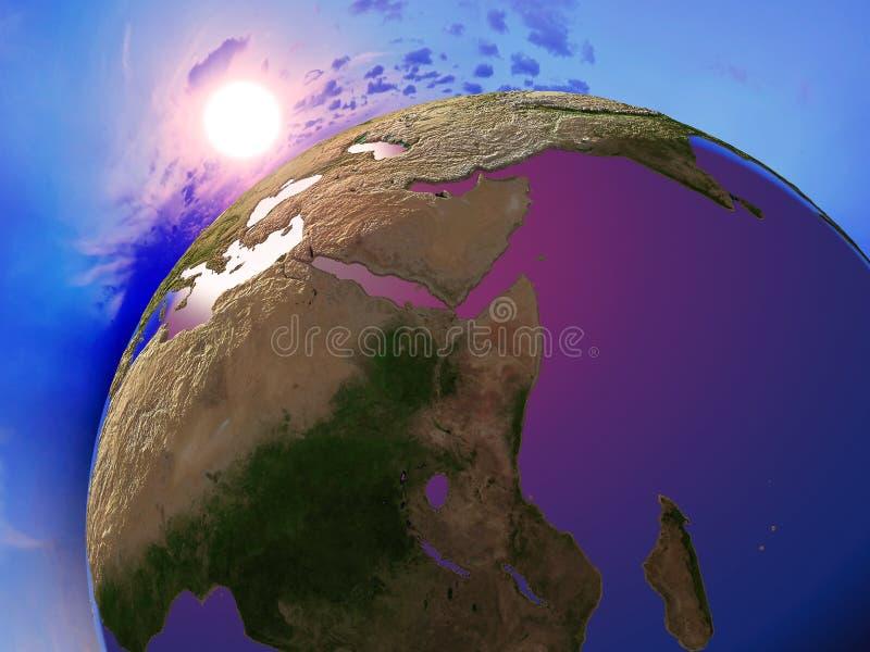 Jordklotet vektor illustrationer