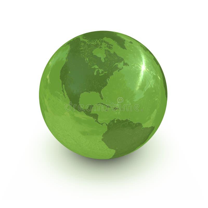 jordklotgreen stock illustrationer