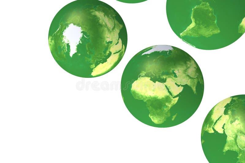 jordklotgreen royaltyfri illustrationer