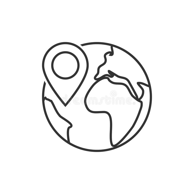 Jordklotlägesymbol vektor illustrationer