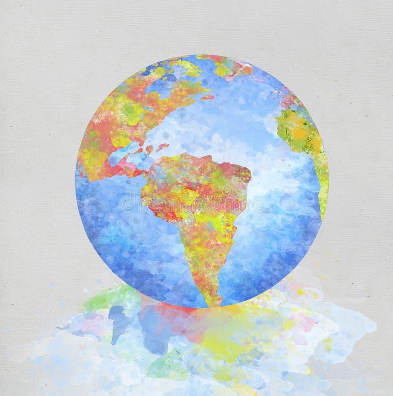 jordklotmålningspapper stock illustrationer