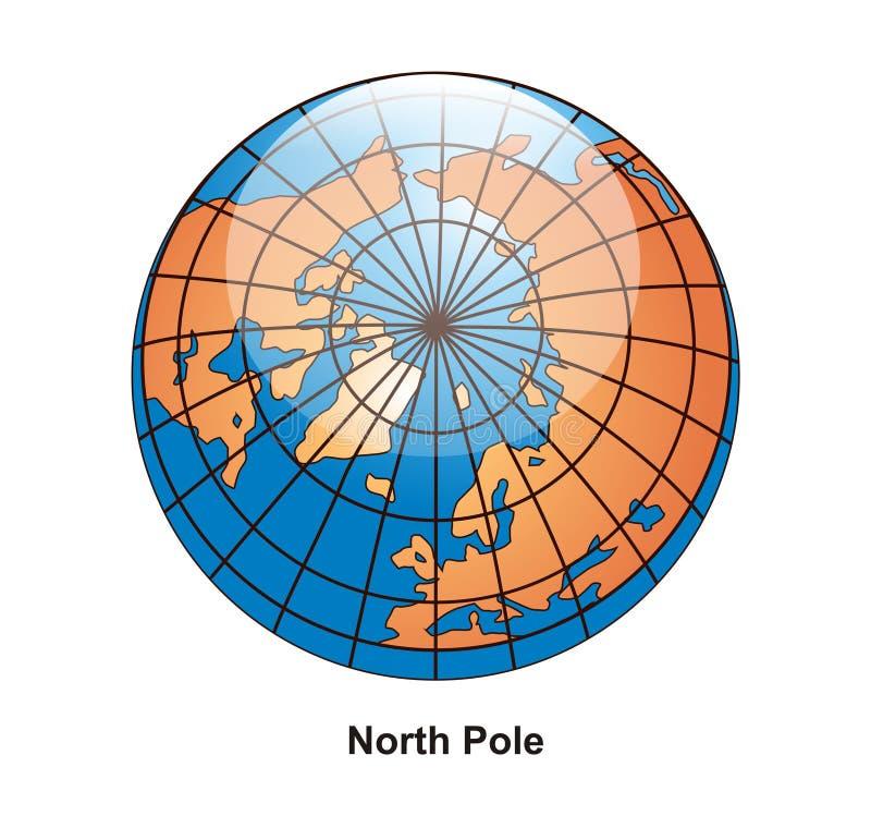 jordklotnordpolen vektor illustrationer