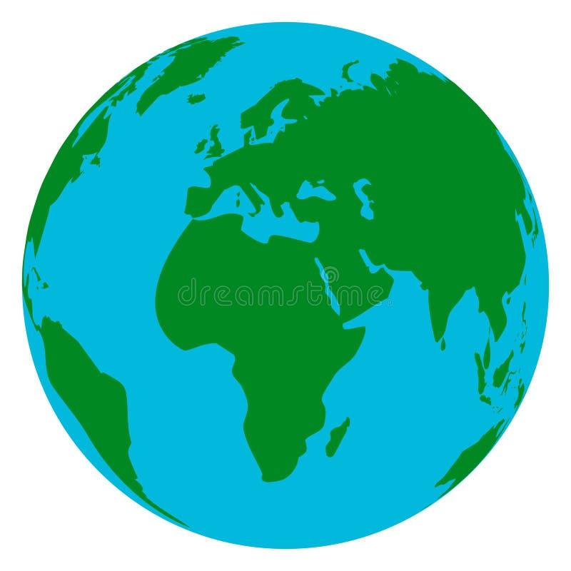 Jordklotplanetjord stock illustrationer