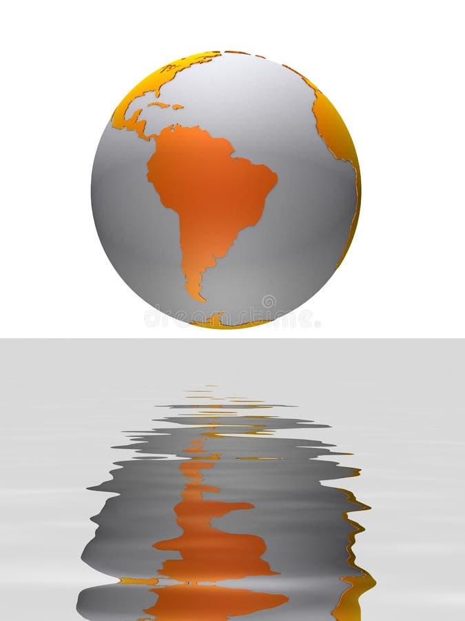 jordklotreflexion stock illustrationer