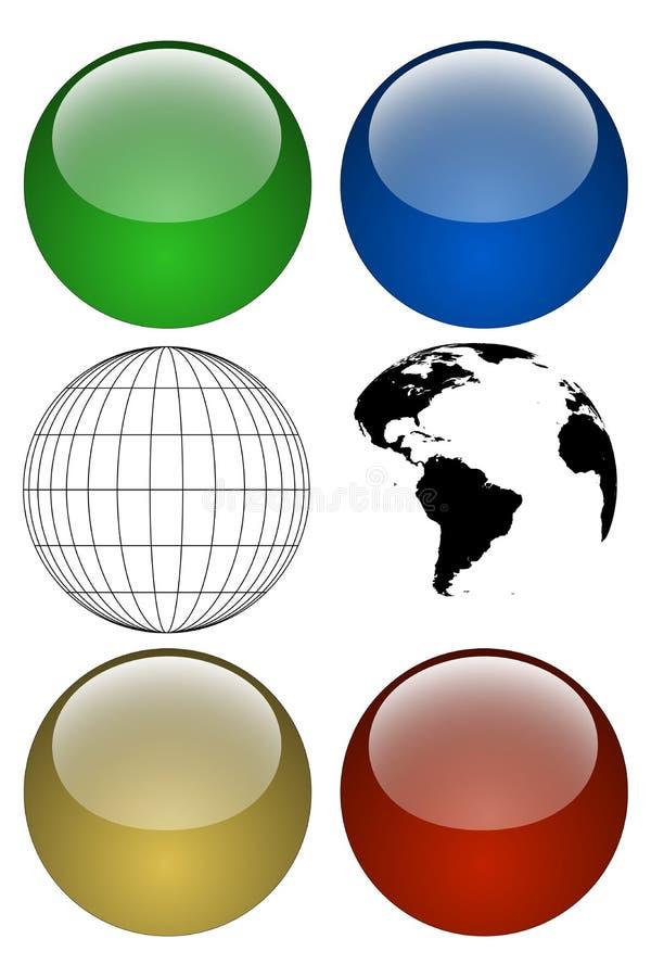 jordklotsats vektor illustrationer