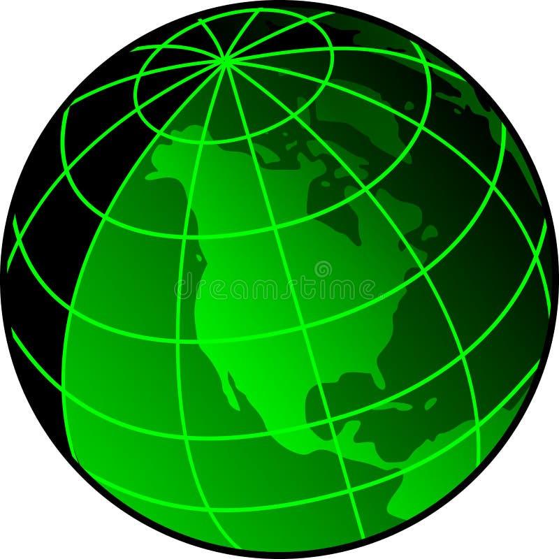 jordklotsonar vektor illustrationer