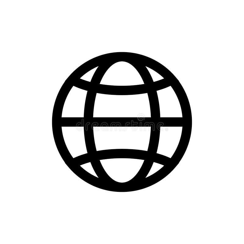 Jordklotsymbol som isoleras royaltyfri illustrationer