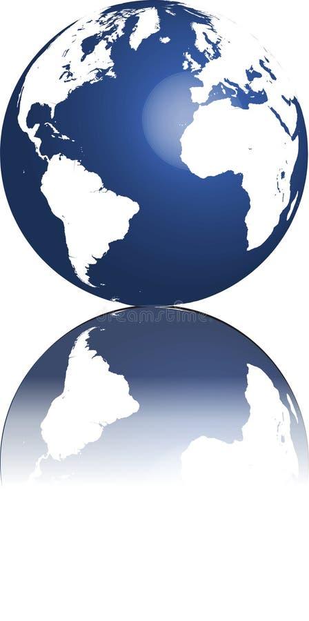 jordklotvärld stock illustrationer
