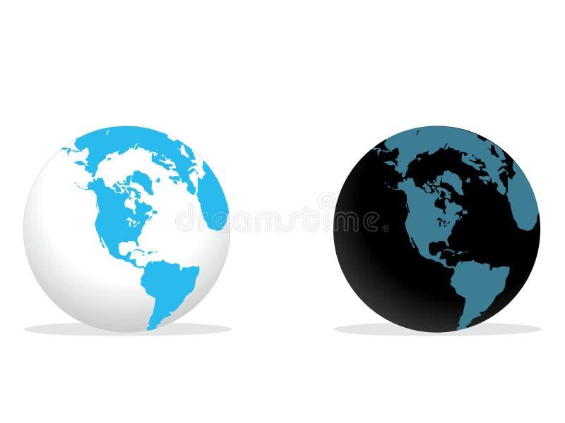 jordklotvärld royaltyfri fotografi