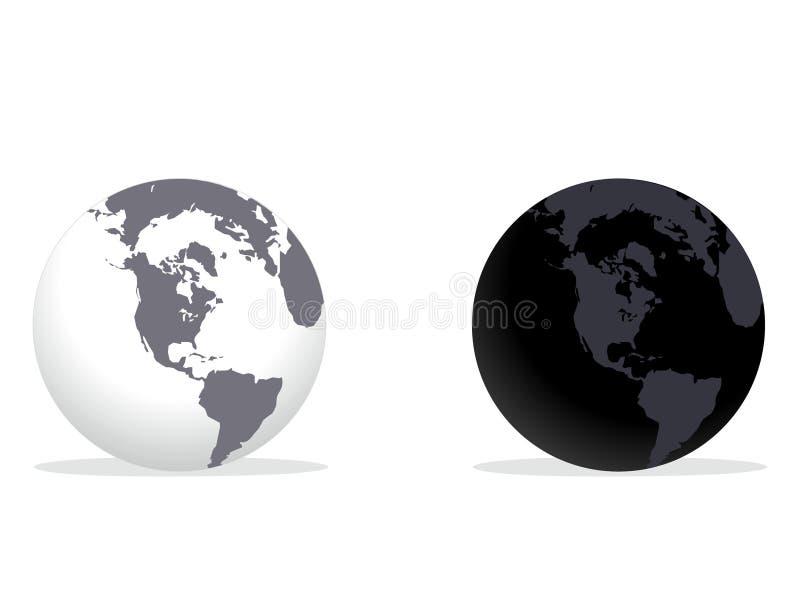 jordklotvärld royaltyfria foton