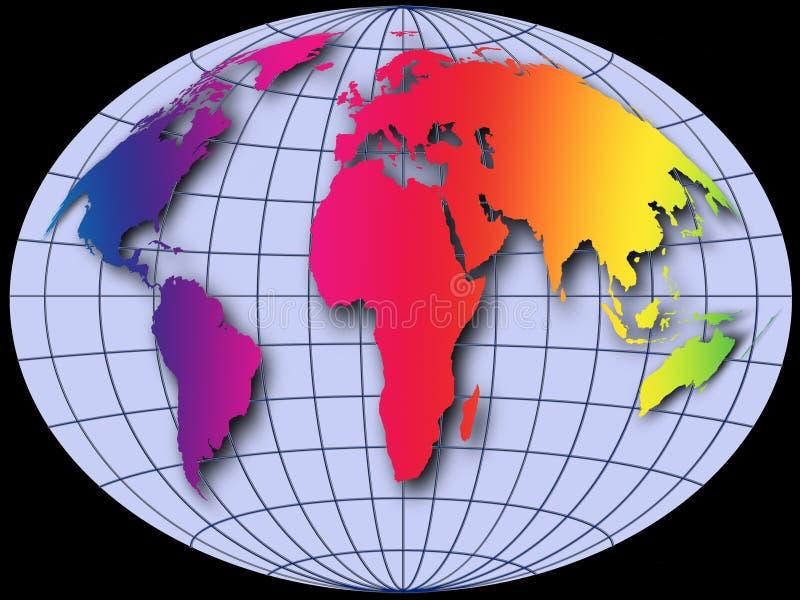 jordklotvärld vektor illustrationer