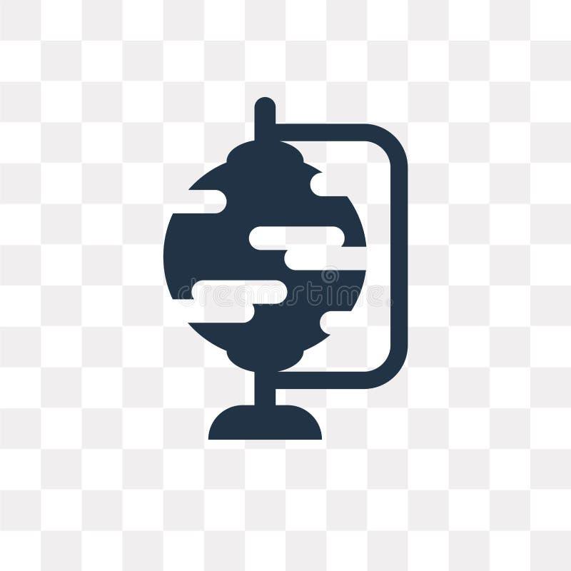 Jordklotvektorsymbol som isoleras på genomskinlig bakgrund, jordklottra vektor illustrationer
