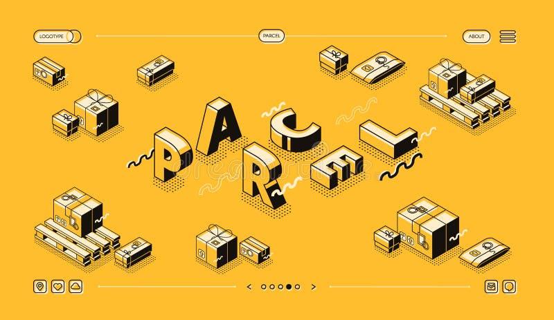 Jordlottleveranslinje rastrerad design för ordvektor vektor illustrationer