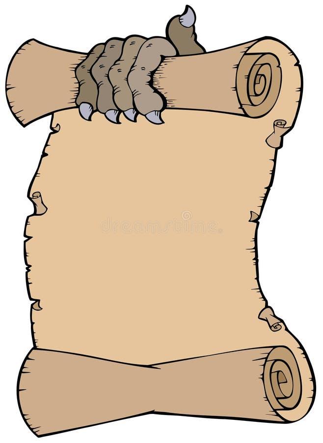 jordluckrareparchment royaltyfri illustrationer