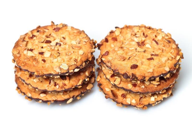 jordnötter för chipchokladkakor arkivfoton