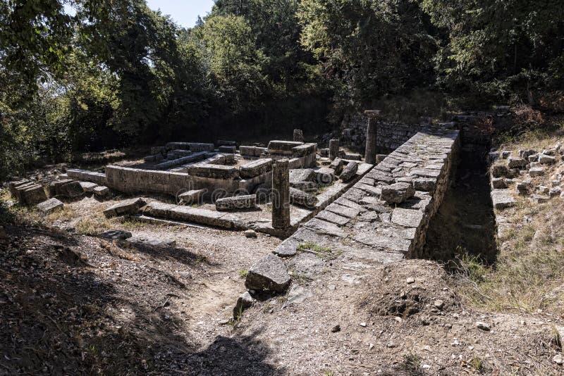Jordningen av den måndag Pepose slotten i Korfu Grekland arkivbild