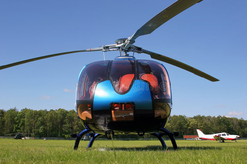 jordningshelikopter royaltyfria foton