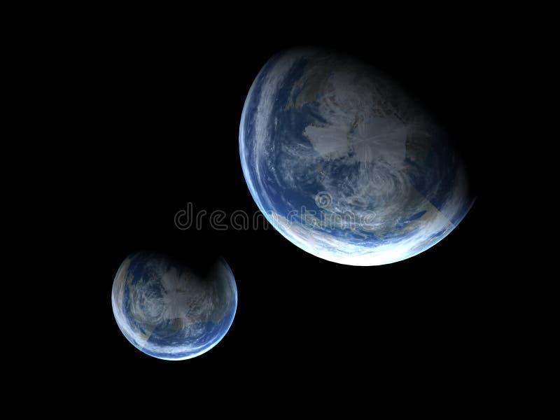 jordplanet stock illustrationer