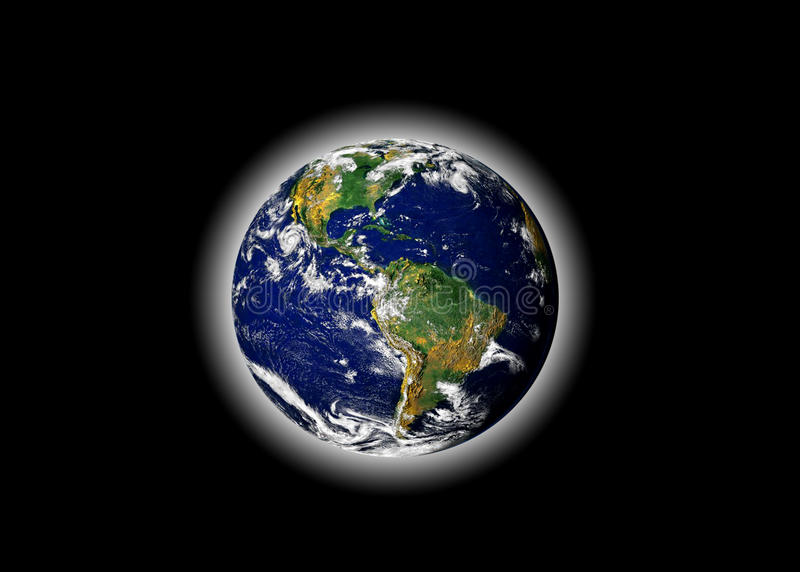 jordplanetvärld vektor illustrationer