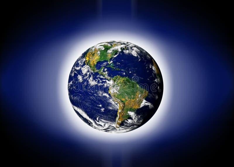 jordplanetvärld royaltyfri illustrationer