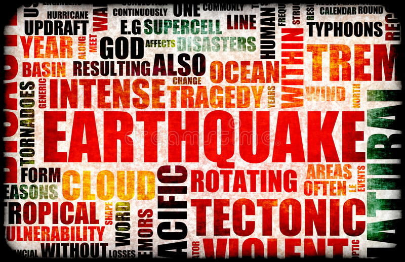 jordskalv vektor illustrationer