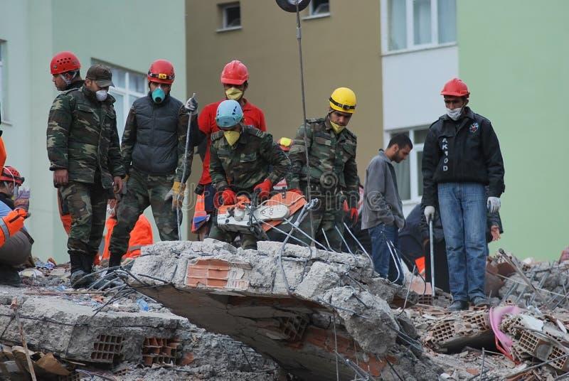jordskalvkalkon arkivfoto