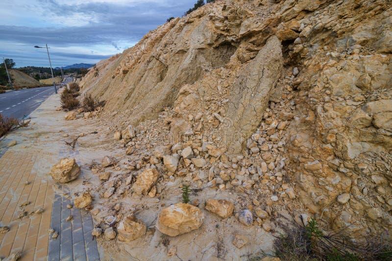 jordskred arkivbild