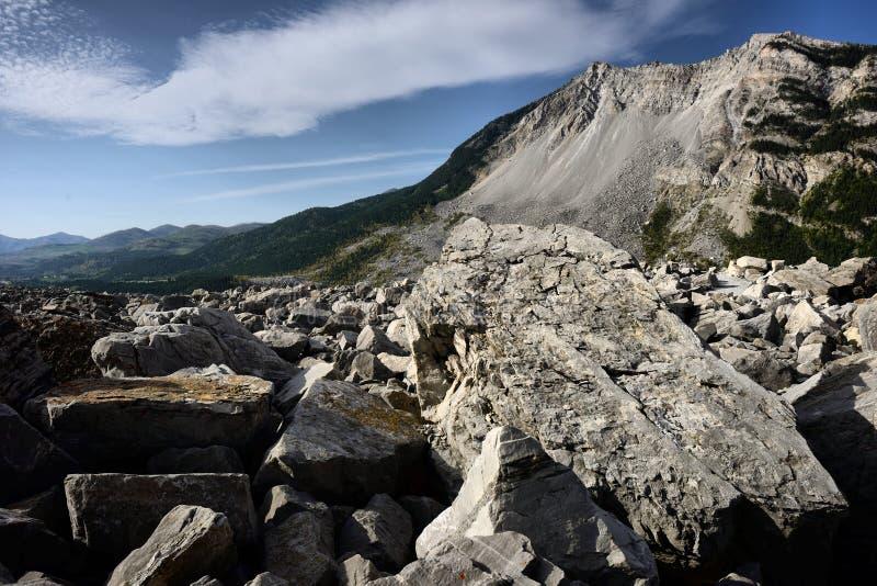 Jordskred Frank Alberta arkivbilder