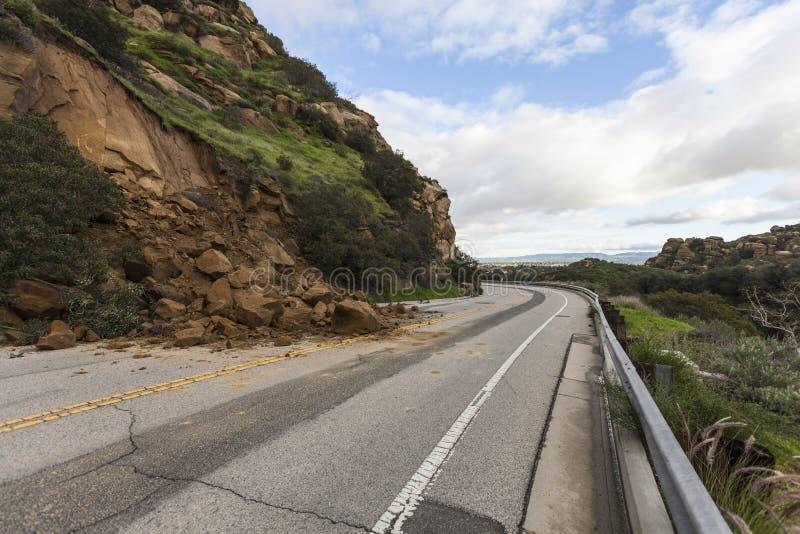 Jordskred Los Angeles Kalifornien royaltyfri fotografi